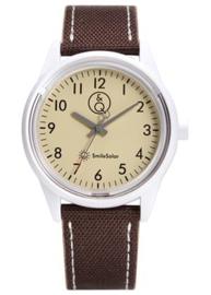 Q&Q 651009 Smile Solar tiener horloge 40 mm 100 meter bruin/ camel