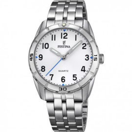 Festina F16907/1 tiener horloge 33 mm 50 meter wit