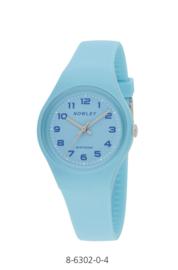 Nowley 8-6302-0-4 analoog tiener horloge 34 mm 100 meter blauw