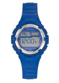 Tekday 653798 digitaal tiener horloge 34 mm 100 meter blauw/ grijs