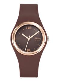 Tekday 653887 analoog tiener horloge 34 mm 100 meter bruin/ rosé