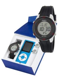 Marea B35322/1 digitaal horloge 38 mm 50 meter zwart/ rood
