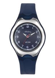 Tekday 654126 analoog tiener horloge 37 mm 50 meter blauw/ zilverkleurig