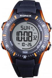 Xonix IR-004 digitaal tiener horloge 40 mm 100 meter zwart/ oranje
