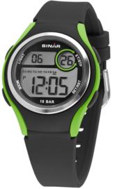 Sinar XE-64-3 digitaal tiener horloge 36 mm 100 meter zwart/ groen