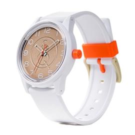 Q&Q RP00J041Y Smile Solar tiener horloge 40 mm 50 meter wit/ goudkleurig