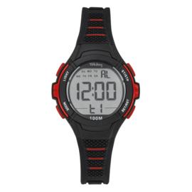 Tekday 654662 digitaal tiener horloge 35 mm 100 meter zwart/ rood