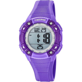 Calypso K5728/5 digitaal tiener horloge 38 mm 100 meter paars