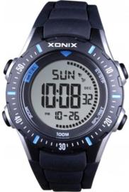 Xonix IR-005 digitaal tiener horloge 40 mm 100 meter zwart/ blauw