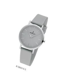 Nowley 8-5843-0-5 analoog tiener horloge 34 mm 30 meter grijs