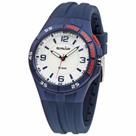 Sinar XB-38-2 analoog tiener horloge 38 mm 100 meter blauw/ rood