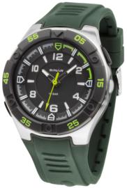 Sinar XD-45-3 analoog tiener horloge 44 mm 100 meter groen/ zwart