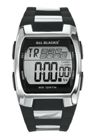All Blacks 680023 digitaal tiener horloge 37 mm 100 meter zwart/ grijs
