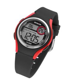 Sinar XE-64-4 digitaal tiener horloge 36 mm 100 meter zwart/ rood