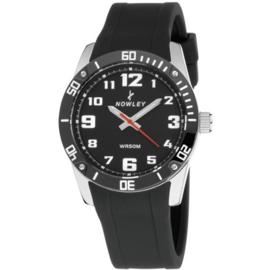 Nowley 8-5643-0-1 analoog tiener horloge 36 mm 50 meter zwart
