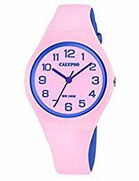 Calypso K5777/1 analoog tiener horloge 34 mm 100 meter roze/ blauw