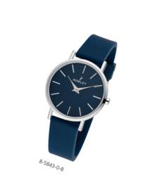 Nowley 8-5843-0-8 analoog tiener horloge 34 mm 30 meter donker blauw