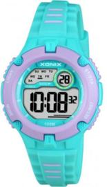 Xonix IV-003 digitaal tiener horloge 34 mm 100 meter turquoise/ roze