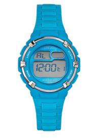 Tekday 653800 digitaal tiener horloge 34 mm 100 meter blauw/ grijs