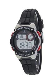 Marea B25154/1 digitaal tiener horloge 36 mm 100 meter zwart/ rood
