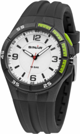 Sinar XB-38-1 analoog tiener horloge 38 mm 100 meter zwart/ groen