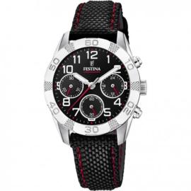 Festina F20346/3 chronograaf horloge 36 mm 50 meter zwart