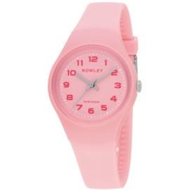 Nowley 8-6302-0-2 analoog tiener horloge 34 mm 100 meter roze