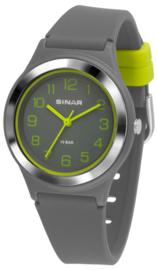 Sinar XB-48-1 analoog tiener horloge 36 mm 100 meter grijs/ groen
