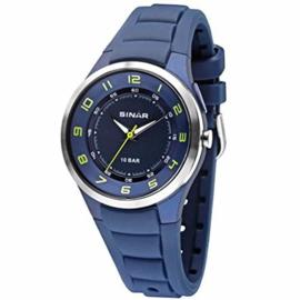 Sinar XB-28-2 analoog tiener horloge 40 mm 100 meter blauw