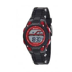 Marea B44097/1 digitaal tiener horloge 36 mm 50 meter zwart/ rood