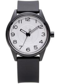 Q&Q 651000 Smile Solar tiener horloge 40 mm 50 meter zwart/ wit
