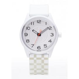 Q&Q RP00J051Y Smile Solar tiener horloge 40 mm 50 meter wit/ grijs