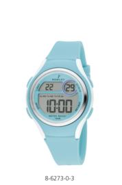 Nowley 8-6273-0-3 digitaal tiener horloge 36 mm 100 meter turquoise/ wit