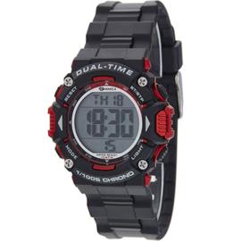 Marea B40190/1 digitaal tiener horloge 40 mm 100 meter zwart/ rood