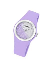 Calypso K5754/2 analoog tiener horloge 34 mm 50 meter paars