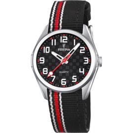 Festina F16904/3 tiener horloge 31 mm 50 meter zwart/ rood