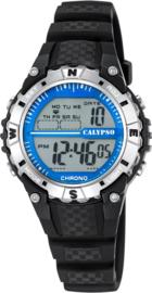 Calypso K5684/1 digitaal tiener horloge 37 mm 100 meter zwart/ blauw