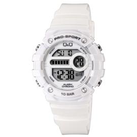 Q&Q M154J005 digitaal tiener horloge 40 mm 100 meter wit