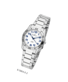Nowley 8-5864-0-2 analoog tiener horloge 32 mm 50 meter wit
