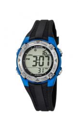 Calypso K5685/5 digitaal tiener horloge 37 mm 100 meter zwart/ blauw