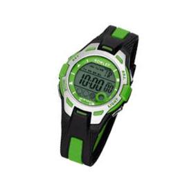 Nowley 8-6301-0-4 digitaal tiener horloge 37 mm 100 meter zwart/ groen