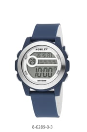 Nowley 8-6289-0-3 digitaal tiener horloge 41 mm 100 meter blauw/ wit