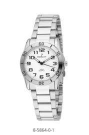 Nowley 8-5864-0-1 analoog tiener horloge 32 mm 50 meter wit