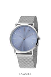 Nowley 8-5625-0-7 analoog tiener horloge 36 mm 30 meter zilverkleurig/ licht blauw