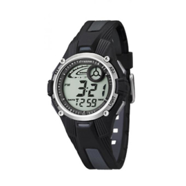 Calypso K5558/6 digitaal tiener horloge 36 mm 100 meter zwart/ grijs