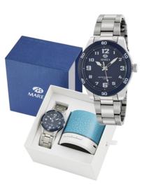 Marea B35321/2 analoog horloge 38 mm 50 meter blauw
