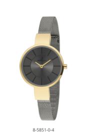 Nowley 8-5851-0-4 analoog tiener horloge 32 mm 30 meter grijs/ goudkleurig