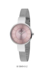 Nowley 8-5849-0-2 analoog tiener horloge 32 mm 30 meter zilverkleurig/ roze