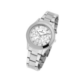 Nowley 8-5369-0-0 analoog tiener horloge chrono look 37 mm 50 meter zilverkleurig