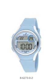 Nowley 8-6273-0-2 digitaal tiener horloge 36 mm 100 meter blauw/ wit